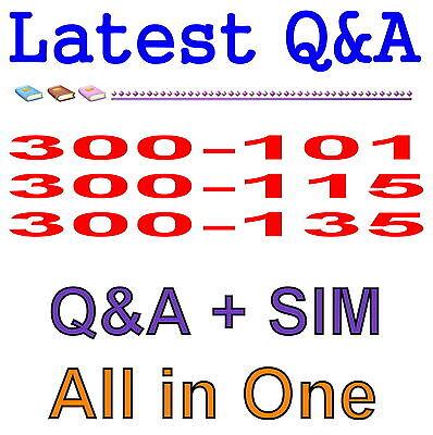 Cisco CCNP 300-101 300-115 300-135 Routing Switching Exam Q&A PDF+SIM