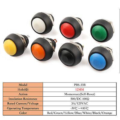 Pbs-33b Mini Round Pushbutton Switch 12mm Waterproof Momentary Switch Onoff