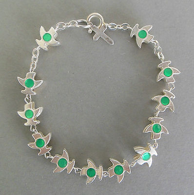 Rosenkranz Armband Metall Friedenstaube mintgrüne Ornamente, Schmuck, Auto  Autos Armbänder