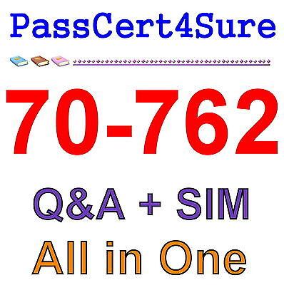 Best Exam Practice Material For 70-762 Exam Q&A+SIM