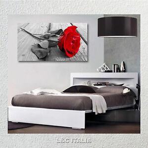 Rosa quadro moderno vintage fiori arredamento casa quadri astratti rosa rossa ebay - Quadri arredamento casa ...