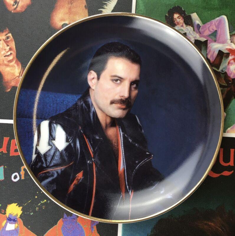 Freddie Mercury (Queen) 'Hot Space' Danbury Mint Plate + COA - Rare