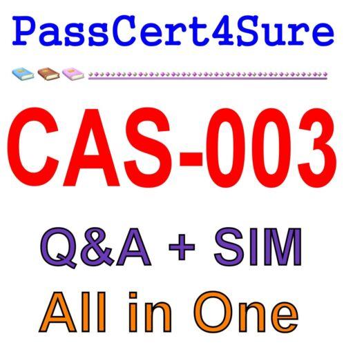 CompTIA Advanced Security Practitioner (CASP) CAS-003 Exam Q&A PDF+SIM
