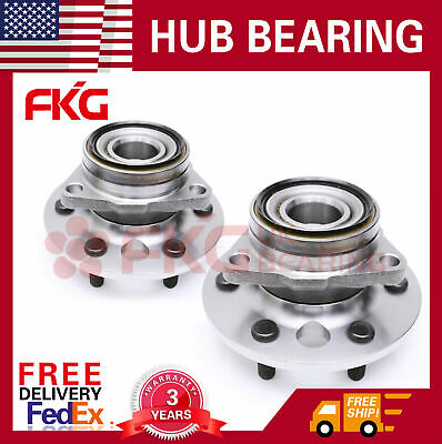 Front Wheel Bearing Hub For 88-94 Chevy GMC K1500 K2500 Yukon 6-Lug 4WD 515001x2