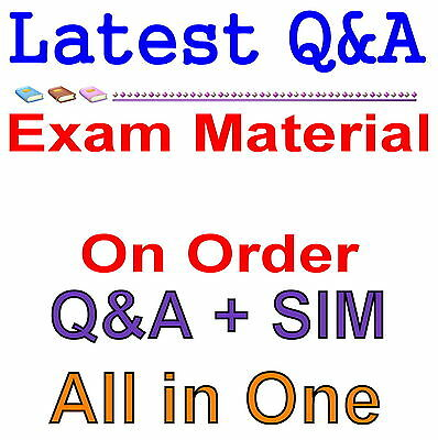 Order Request Exam Q&A PDF+SIM