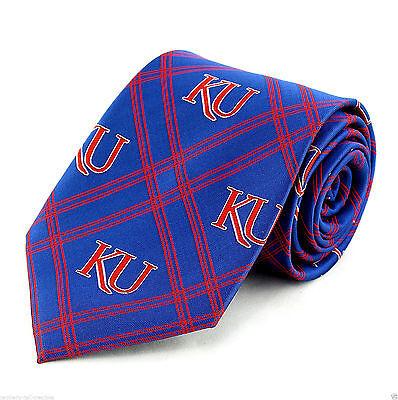 Kansas Jayhawks Diamond Men's Necktie University College X Logo Blue Neck Tie - Kansas Jayhawks Necktie