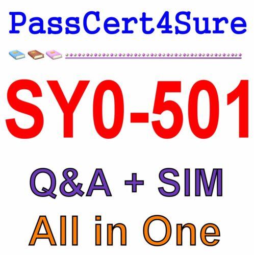 CompTIA Security+ SY0-501 Exam Q&A+SIM