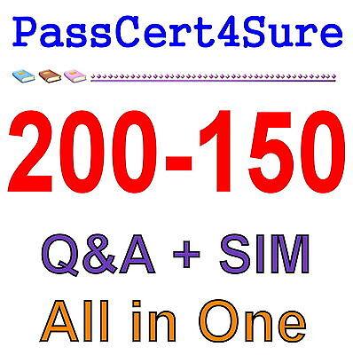 Cisco Best Practice Material For 200-150 Exam Q&A PDF+SIM