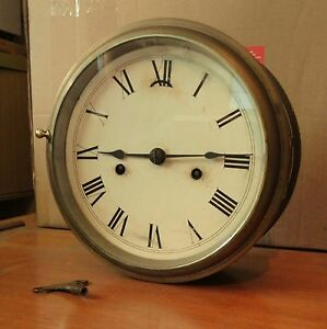 RARE LARGE SETH THOMAS ANTIQUE BRASS SHIPS CLOCK