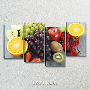 Frutta 3 quadri moderni 152x78 quadro arredo cucina bar fruit mela arancia uva ebay - Quadri moderni cucina ...