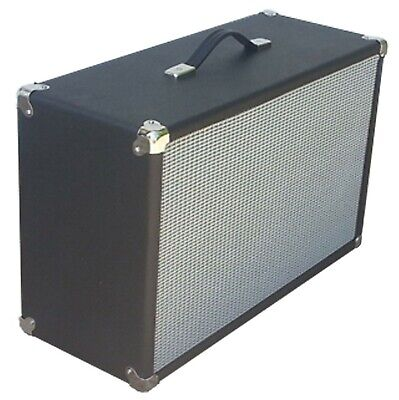 SubZ 2x12 Extension Guitar Cabinet - Pine - Black Tolex - Silver Grill - Closed