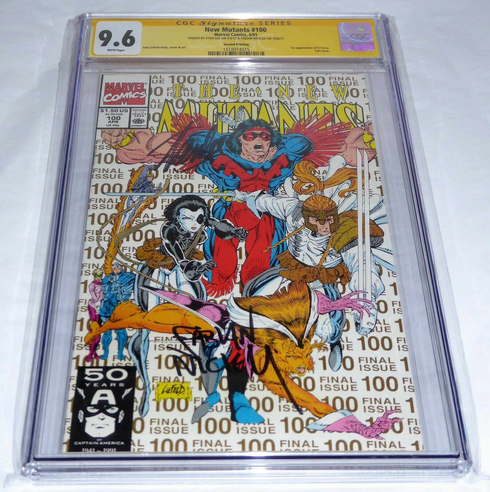 New Mutants #100 CGC SS 9.6 Signature Autograph STAN LEE 1st X-Force 2nd Print