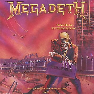 Megadeth 1986 Peace Sells Original Promo Poster