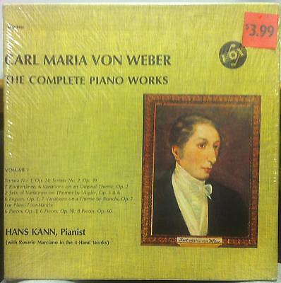 HANS KANN weber complete piano works vol 1 Sealed 3 LP Box Set SVBX 5450 Vinyl (Kann Vinyl Box)