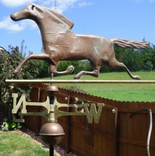 Vintage Trotting Horse Farm/Barn Copper Weathervane