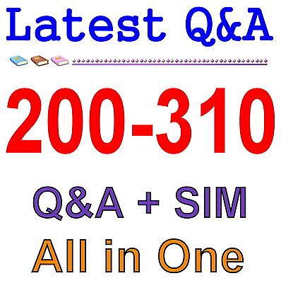 Cisco Best Practice Material For 200-310 Exam Q&A PDF+SIM