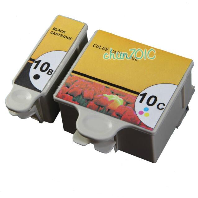 2x 10 Black Amp Color Ink Cartridges For Kodak ESP 3200 3250 5200 5250 Printer