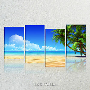 Palme beach quadri moderni xxl arredamento casa stampa - Quadri per casa mare ...
