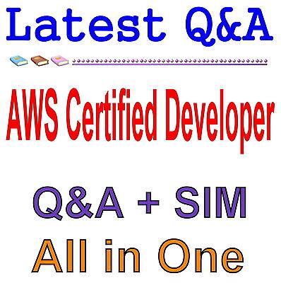 Amazon AWS Certified Developer Associate Exam Q&A PDF+SIM