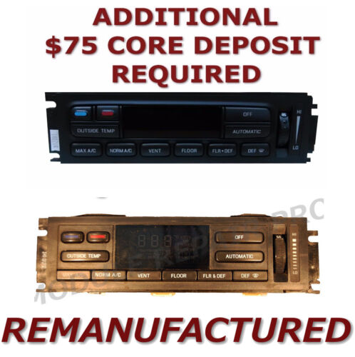 REMAN 96-97 Lincoln Town Car AC Heater Climate Temperature Control EATC Exchange