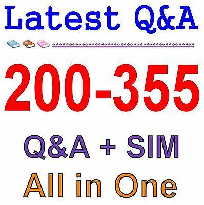 Cisco Best Practice Material For 200-355 Exam Q&A PDF+SIM