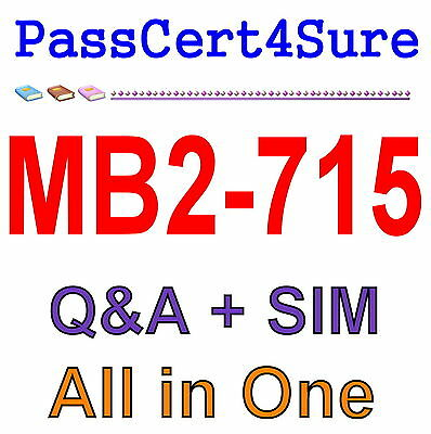 MS Best Practice Material For MB2-715 Exam Q&A PDF+SIM