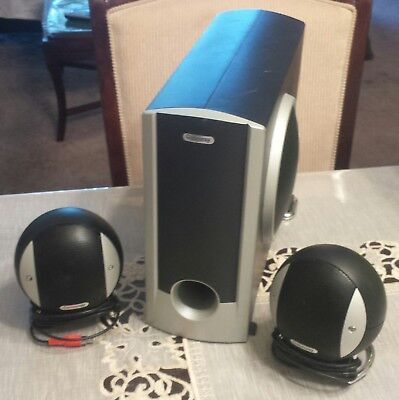 Gateway G-Max 2100 2.1 Two Satellite Speakers with Subwoofer only