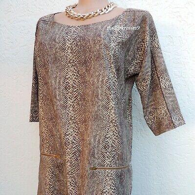Zara Kleid Schlangenmuster Gr.M 38 40 snake animal  print  Minikleid top zustand Print-mini-kleid Top