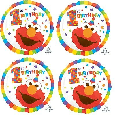 10.2x45.7cm Elmo Erster Geburtstag Folie Mylar Luftballon Party Dekoration