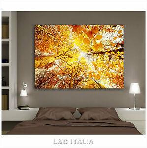 Foglie quadri moderni 100x70 arredamento casa camera stampa tela natura autunno ebay - Quadri arredamento casa ...