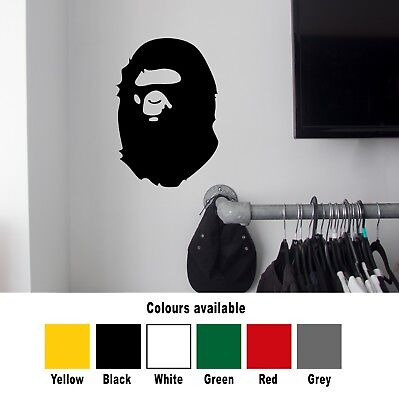 Bape Bathing Ape Large Wall Sticker Vinyl Decal Palace Supreme MacBook Air Pro
