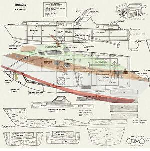 "Details about Model Boat Plans Vintage 24"" Radio Control Motor Yacht ..."