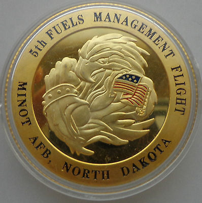 USA   NORTH DAKOTA     24KT GOLD challenge   COIN