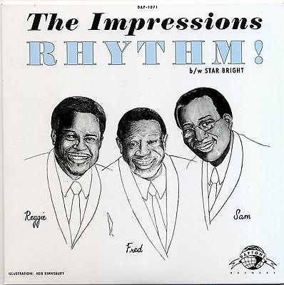 """THE IMPRESSIONS  """"RHYTHM c/w STAR BRIGHT""""    2 SUPERB SIDES"""