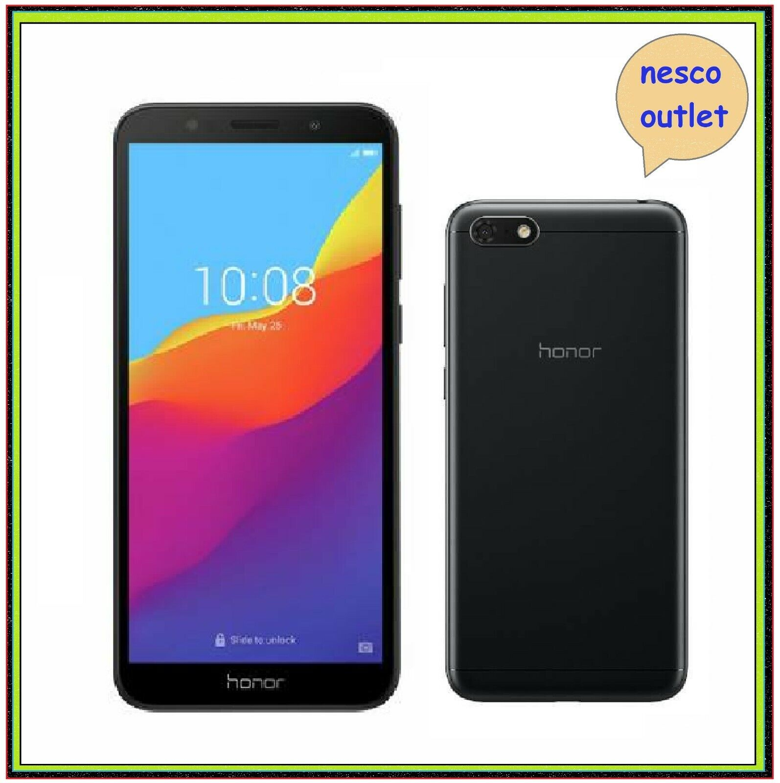 Android Phone - Huawei Honor 7S 16GB Android Dual Sim Unlocked Smartphone Black Mobile Phone
