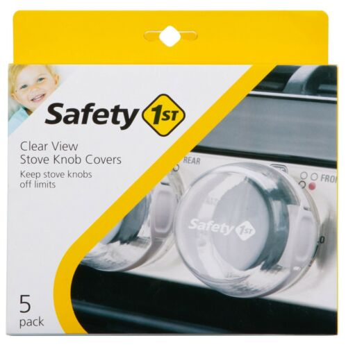 Safety 1st Clear View Stove Knob Covers 5-Pack Baby Proofing Stove Guards