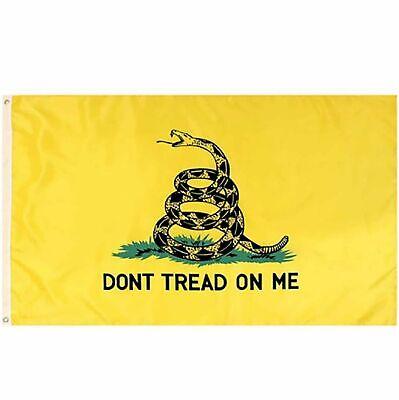 Don't Tread on Me 3x5FT Flag Banner Gadsden Tea Party Patriot Conservative USA Décor