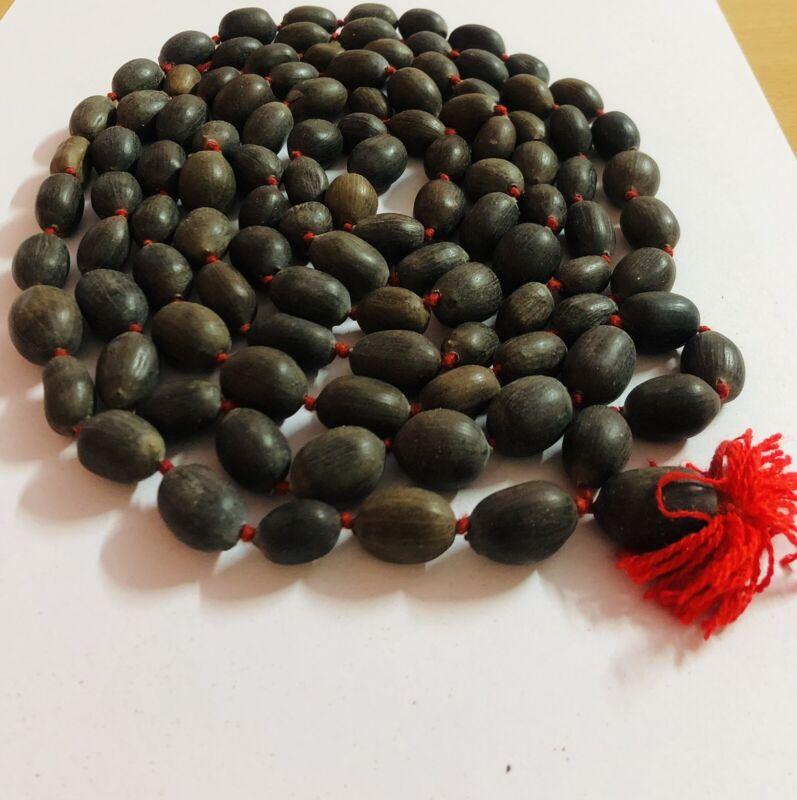 KAMAL GATTA  Lotus Seed Original Mala ROSARY 108 Bead 72 inch Prayer Beads