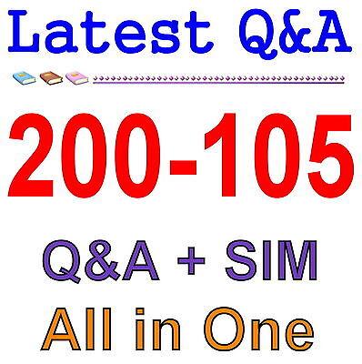 Cisco Best Exam Practice Material for 200-105 Exam Q&A PDF+SIM