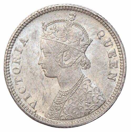 British India 1862-C Queen Victoria Silver 1/4 Rupee KM#470