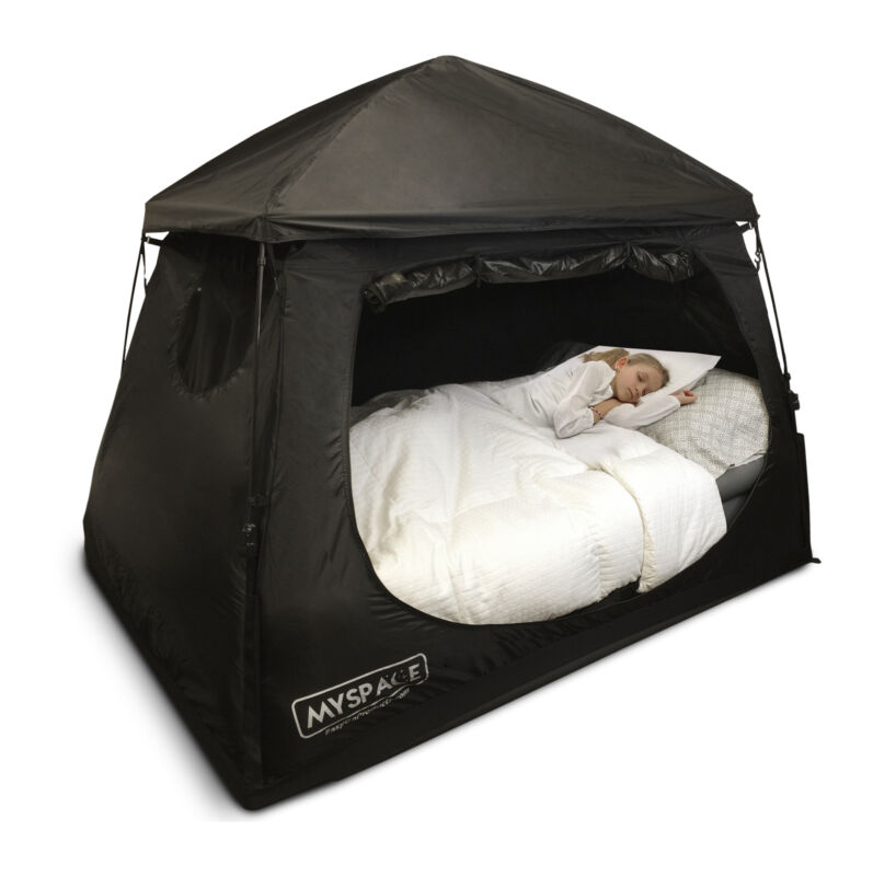 2 in 1 Indoor Privacy Tent for Adult and Children Bed Tent