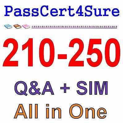 Cisco Best Exam Practice Material for 210-250 Exam Q&A PDF+SIM