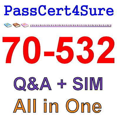 Best Exam Practice Material For 70-532 Exam Q&A+SIM