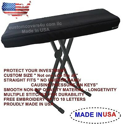 Yamaha MX61 Synthesizer KEYBOARD CUSTOM FIT DUST COVER + EMBROIDERY ! MADE USA, usado comprar usado  Enviando para Brazil