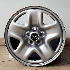4x GENUINE MAZDA CX5 CX-5 STEEL WHEEL RIMS 17X7 9965607070 Near N Caringbah Sutherland Area Preview
