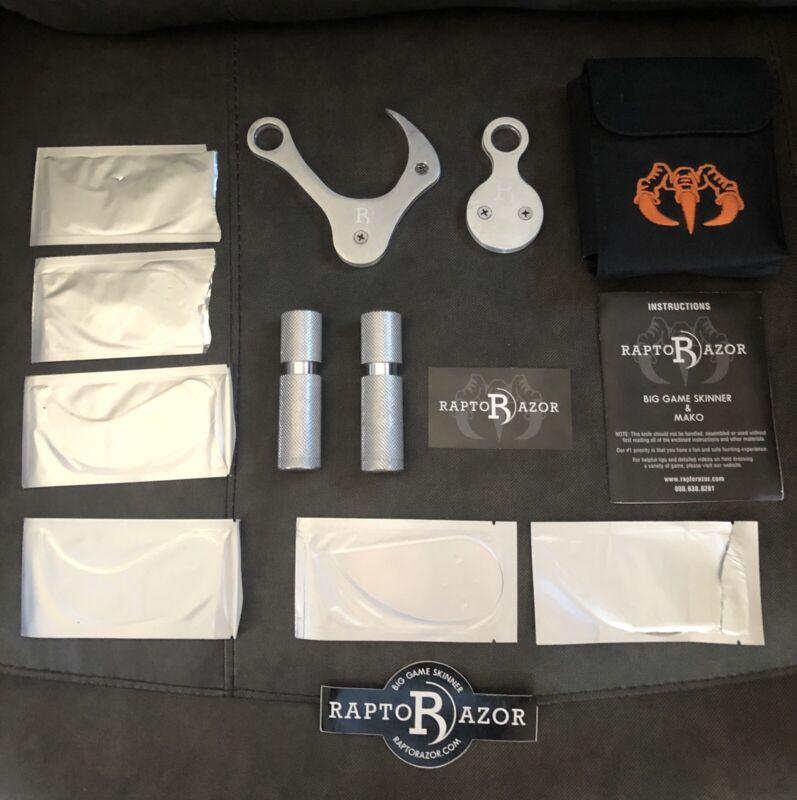 Raptor Razor Aluminum Anodized Big Game Skinner & MAKO Combo Knife Set Open Box