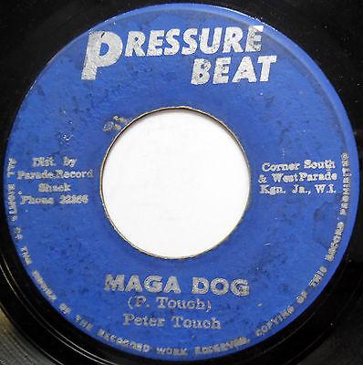 PETER TOUCH / TOSH 45 Maga Dog / Bull Dog REGGAE Pressure Beat 1971 c1702