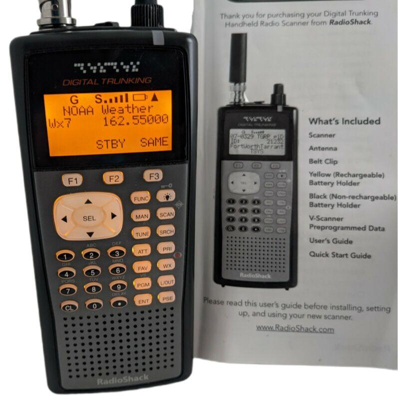 Radio Shack PRO-106 Handheld Radio Scanner - Digital Trunking - Manual + 2nd Ant