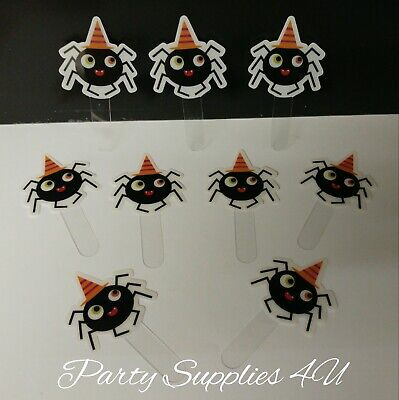 Halloween Cupcake toppers/food/Party/Birthday/cake/Spider/scary/sweets