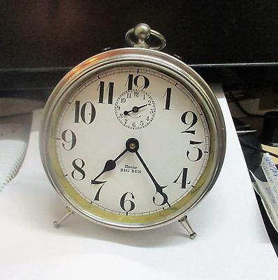 WESTCLOX BIG BEN 1920 .  ALARM CLOCK RUNS   ANTIQUE COLLECTIBLE